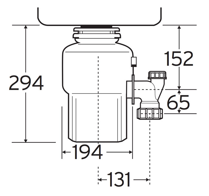 In Sink Erator Ise 55 M Series Food Waste Disposer