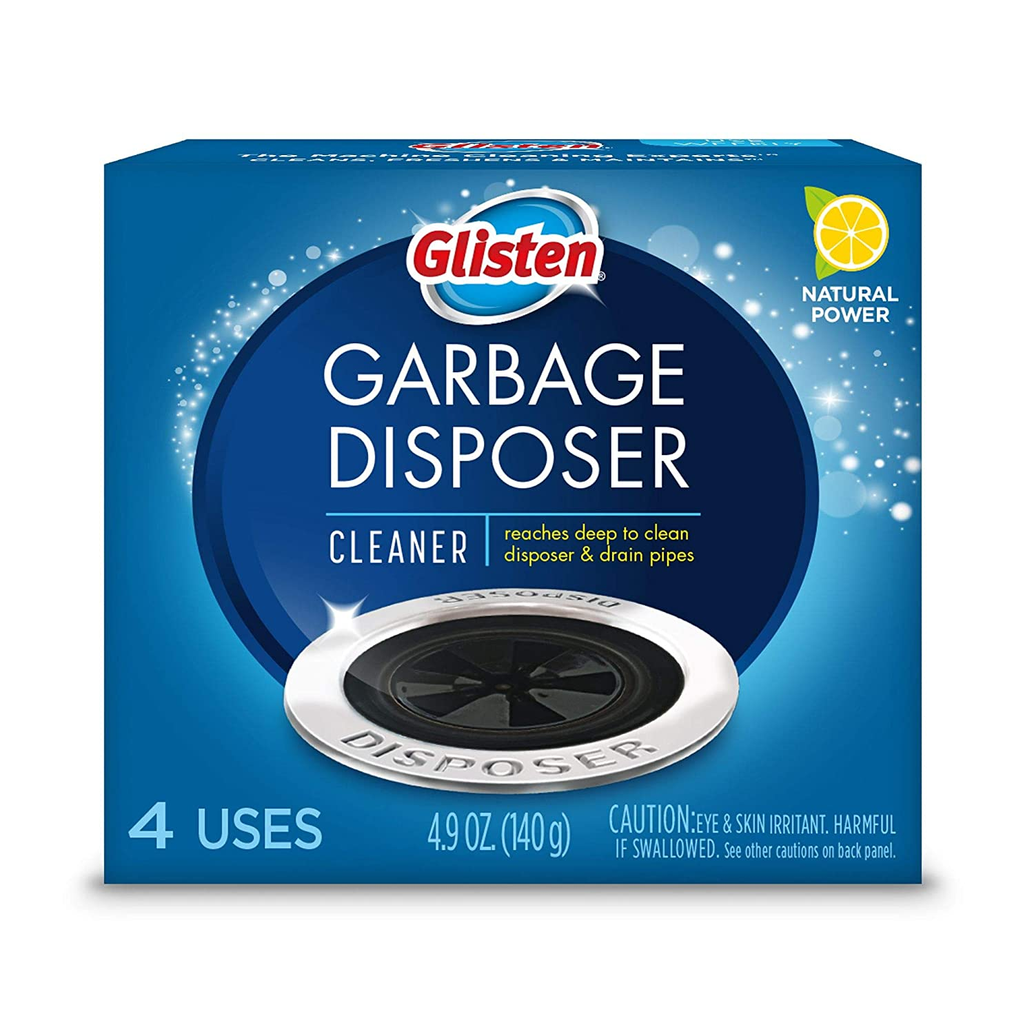 Glisten Waste Disposer Care Cleaner (1 Pack / 4 Sachets)