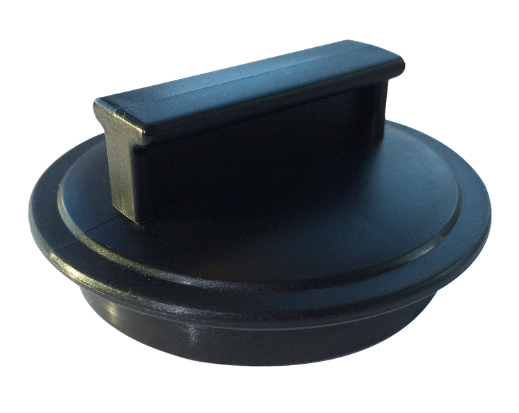 Replacement Plug Stopper (Black) for WasteMaid / WasteKing / Commander