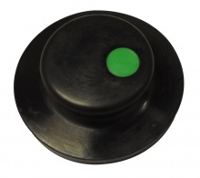 Tweeny Black Rubber Plug (Without Chain) - Green Logo